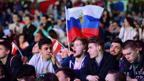 Фан-зона чемпионата мира по хоккею 2016 в Москве - Sputnik Армения