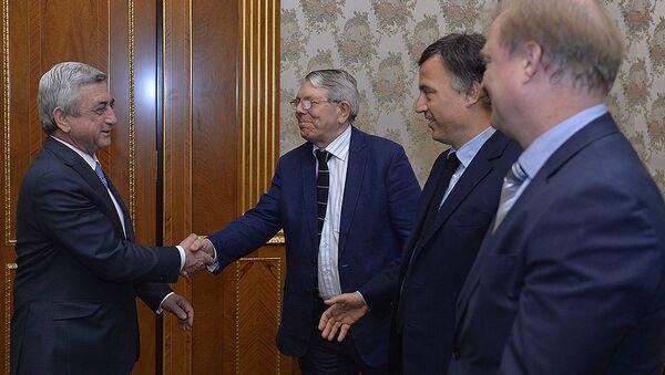 Встреча президента Сержа Саргсяна с содокладчиками ПАСЕ - Sputnik Армения