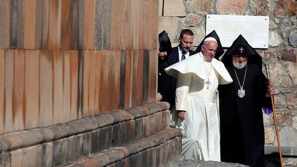 Папа Римский Франциск I в Хор Вирапе - Sputnik Արմենիա