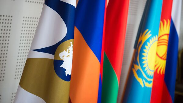 Флаги стран ЕАЭС. ЕЭС - Sputnik Армения