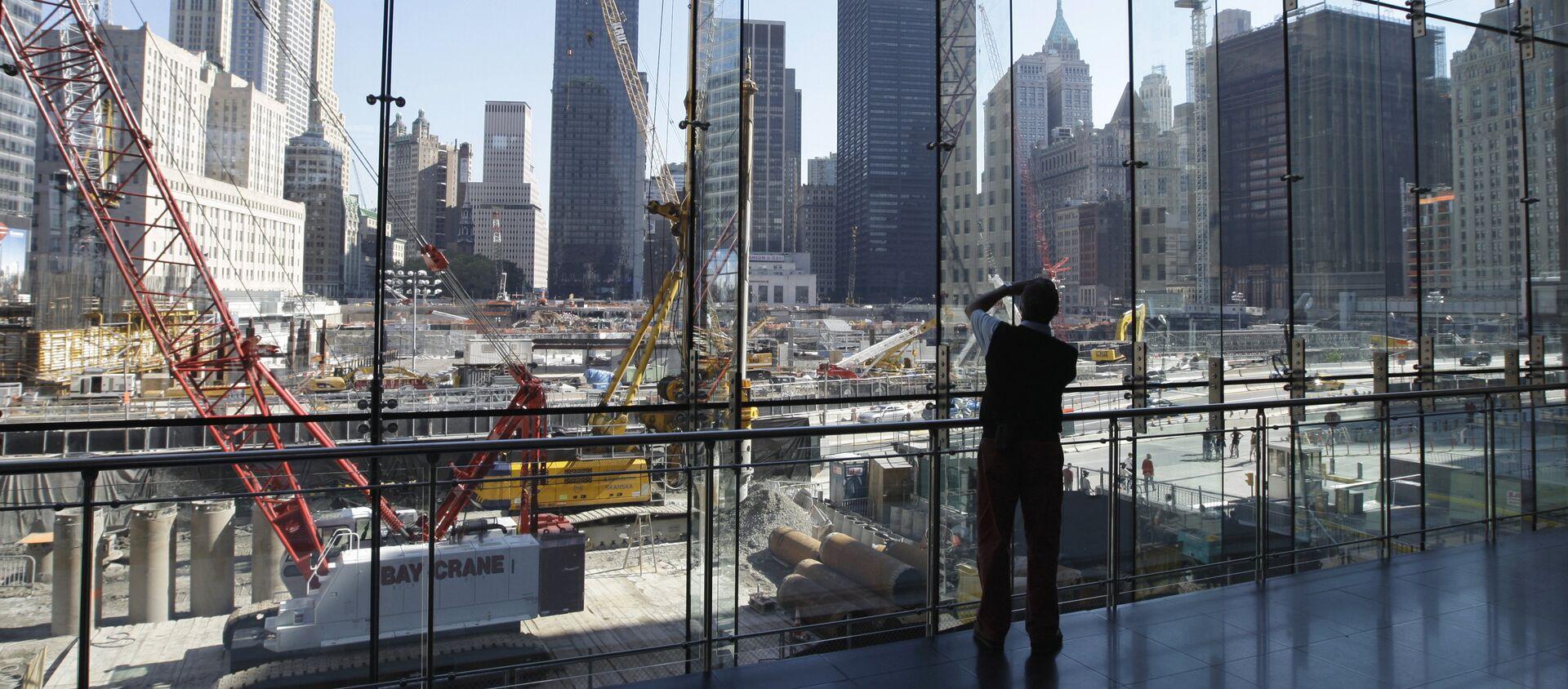 Стройка на месте разрушенных башен-близнецов в Нью-Йорке - Sputnik Армения, 1920, 08.09.2016