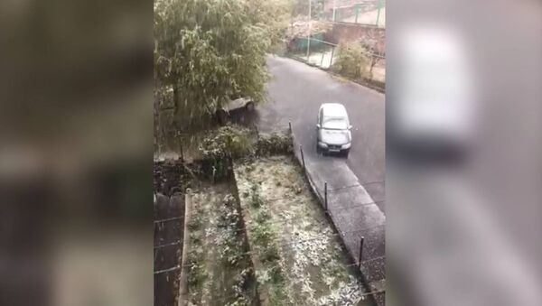 В Ереване пошел первый снег - Sputnik Армения
