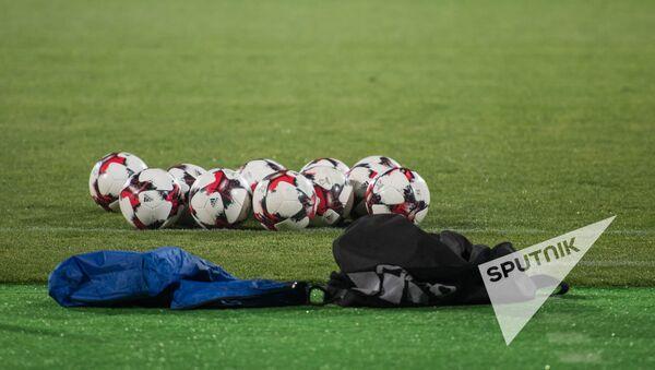 Футбольные мячи на поле - Sputnik Армения