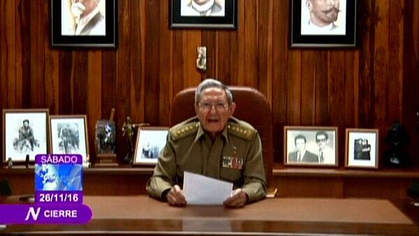 Рауль Кастро по государственному телевидению сообщает о смерти Фиделя Кастро - Sputnik Армения