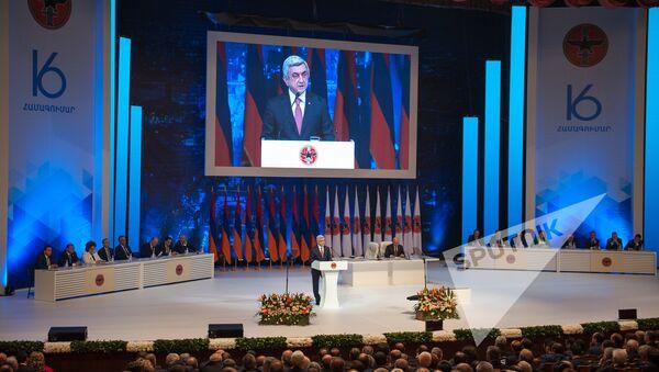 XVI съезд РПА. Выступление президента РА Сержа Саргсяна - Sputnik Армения