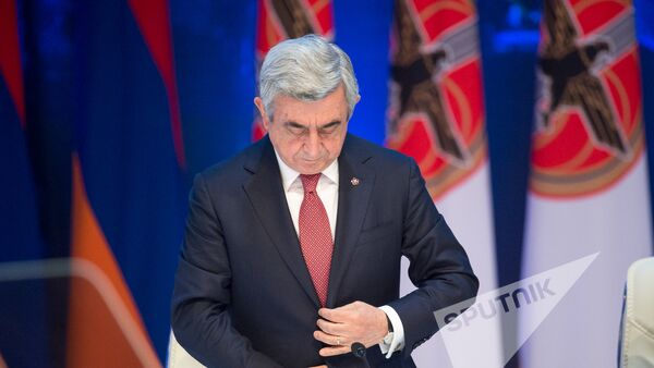 XVI съезд РПА. Президент Армении и РПА Серж Саргсян  - Sputnik Армения