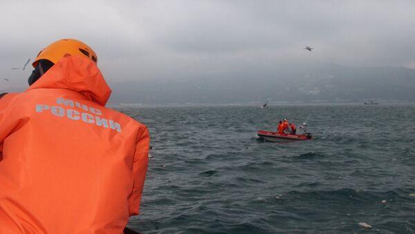 Поисково-спасательные работы на месте крушения самолёта Ту-154 Минобороны РФ в Сочи - Sputnik Արմենիա