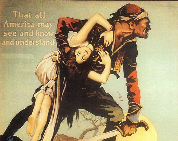 «Հոգիների աճուրդ» ֆիլմի (որը զուգահեռաբար նշվում էր նաև «Հոշոտված Հայաստան» գրքի անվանումով) գովազդային պաստառը - Sputnik Արմենիա