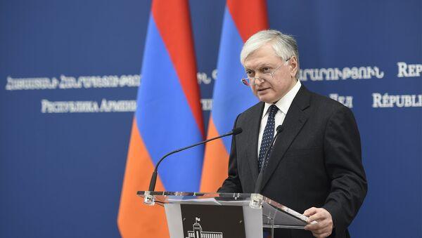 Пресс-конференция Министра иностранных дел Эдварда Налбандяна - Sputnik Армения