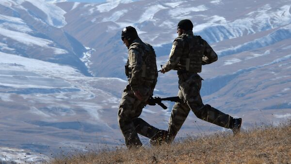 Военные учения в Чеченской Республике - Sputnik Армения
