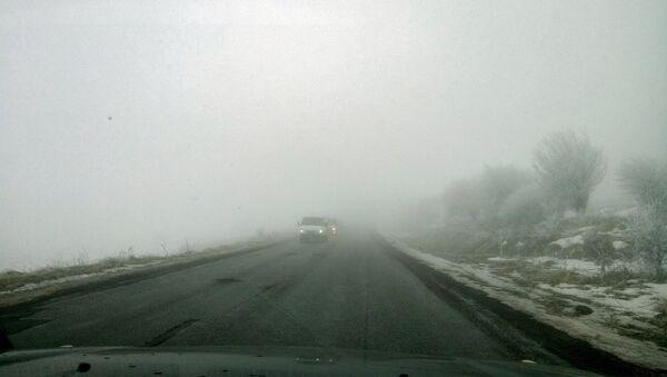 Туман на дороге, Армения  - Sputnik Արմենիա