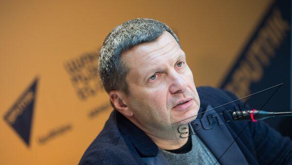 Владимир Соловьев в пресс-центре Sputnik Армения - Sputnik Արմենիա