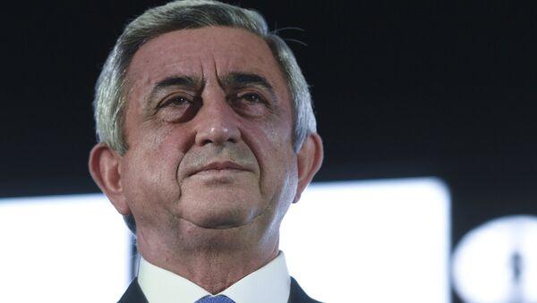 Президент Армении Серж Саргсян - Sputnik Армения