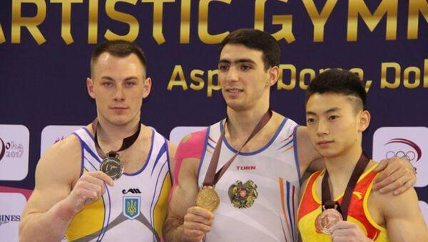 Армянские гимнасты Артур Давтян и Артур Товмасян завоевали две медали на этапе Кубка мира - Sputnik Армения