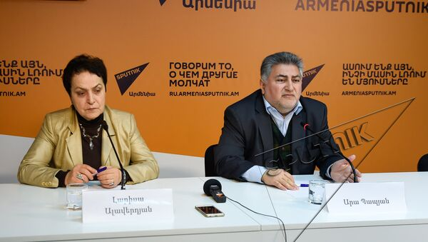 Лариса Алавердян, Ара Папян - Sputnik Армения