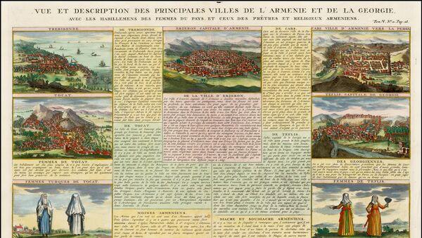 Полное изображение страницы из Исторического атласа Анри Шателена относительно Армении и Грузии - Sputnik Армения