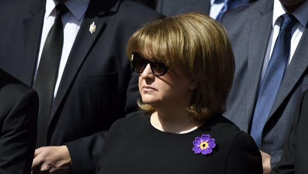 Первая леди Армении Рита Саргсян почтила память жертв Геноцида Армян  - Sputnik Արմենիա