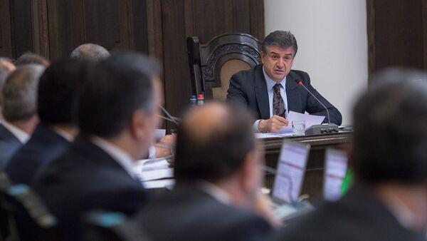 Карен Карапетян. Заседание Правительства РА - Sputnik Армения