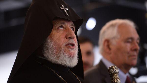 Верховный патриарх и Католикос всех армян Гарегин II прибыл в Москву - Sputnik Армения