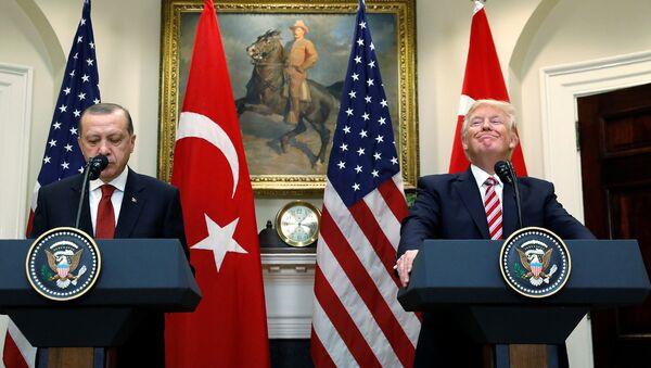 Встреча президентов Турции и США Тайипа Эрдогана и Дональда Трампа в Белом доме - Sputnik Արմենիա