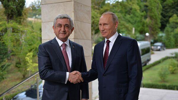 Встреча президентов Армении и России Сержа Саргсяна и Владимира Путина - Sputnik Արմենիա