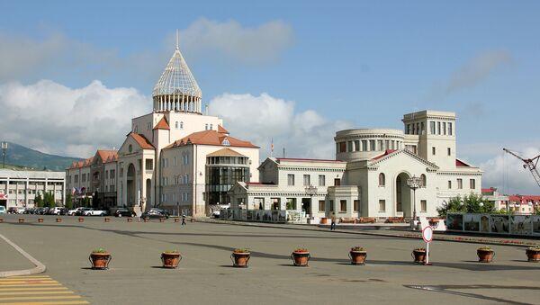 Центральная площадь Степанакерта, Республика Арцах - Sputnik Армения