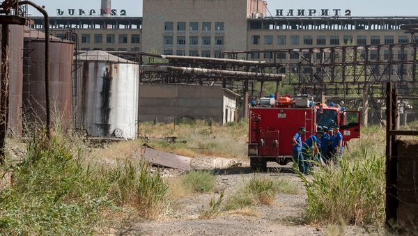 Пожар на заводе Наирит - Sputnik Армения