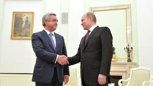 Президент РФ В. Путин встретился с президентом Армении С. Саргсяном - Sputnik Армения
