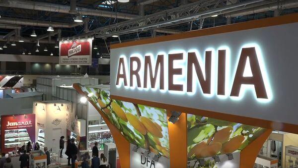Павильон Армении на продовольственной выставке WorldFood Moscow - Sputnik Արմենիա