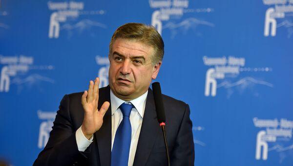 И.О. премьер-министра Армении Карен Карапетян - Sputnik Армения