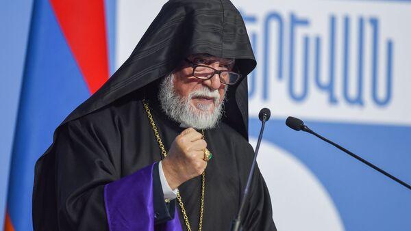 Католикос Киликийский Арам I на форуме Армения-Диаспора - Sputnik Արմենիա