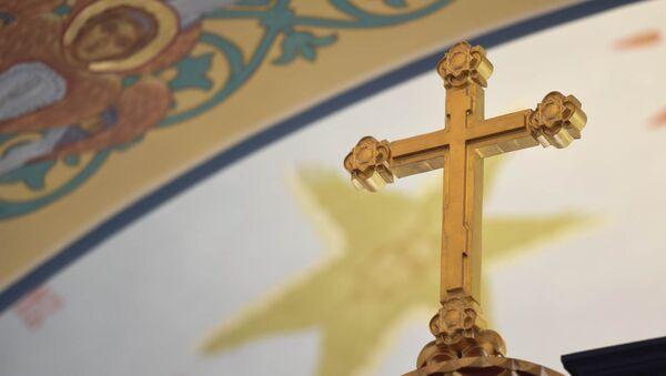 Освящение храма Русской Православной Церкви во имя Воздвижения Животворящего Креста Господня в Ереване - Sputnik Արմենիա