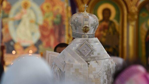 Освящение храма Русской Православной Церкви во имя Воздвижения Животворящего Креста Господня в Ереване - Sputnik Армения