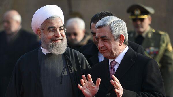 Президент Ирана Хасан Рухани и Президент Армении Серж Саргсян - Sputnik Армения