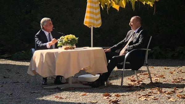 Президенты Армении и Азербайджана Серж Саргсян и Ильхам Алиев - Sputnik Արմենիա