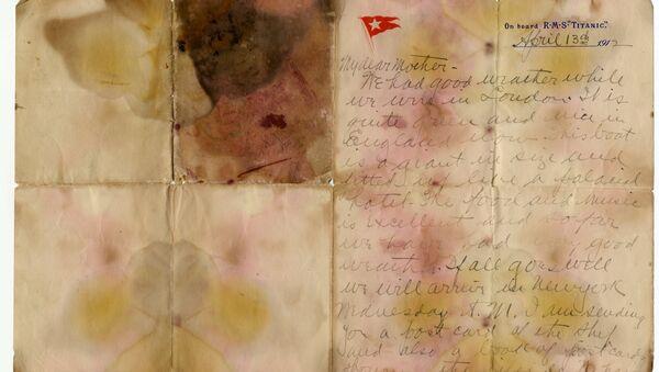 Проданное с аукциона письмо погибшего пассажира Титаника - Sputnik Армения