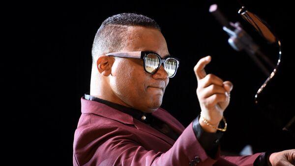 Афро-кубинкий джаз пианист Гонзало Рубалкаба на закрытии джаз фестиваля Yerevan Jazz Fest 2017 - Sputnik Արմենիա