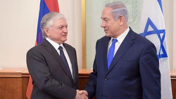 Встреча МИД Армении Эдварда Налбандяна с премьер-министром Израиля Бениамином Нетаньяху - Sputnik Արմենիա