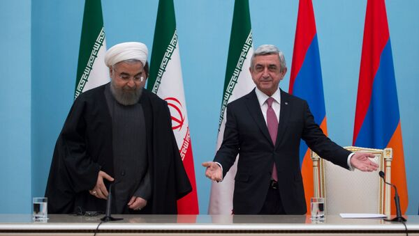 Президенты Ирана Хасан Роухани и Армении Серж Саргсян - Sputnik Արմենիա