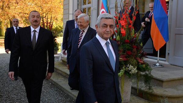 После встречи президентов РА Сержа Саргсяна и АР Ильхама Алиева. Женева, Швейцария - Sputnik Армения