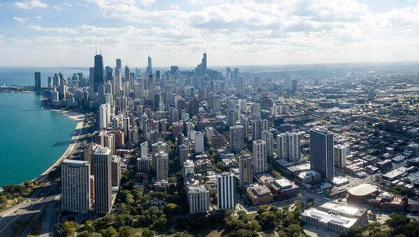 Чикаго с высоты птичьего полета - Sputnik Արմենիա