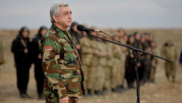 Совместные учения армянских и карабахских ВС - Sputnik Армения