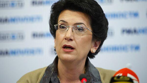 Нино Бурджанадзе выступила в ходе видеомоста Москва-Тбилиси - Sputnik Армения