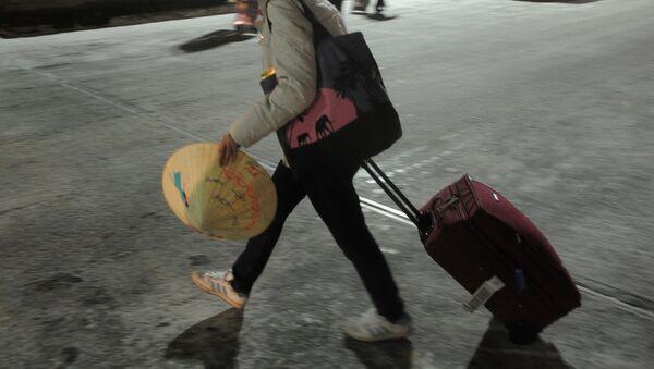 Прилет российских туристов - клиентов Ланта-тур в Москву - Sputnik Արմենիա