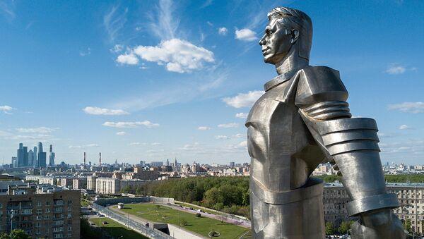 Памятник Ю.А. Гагарину на Ленинском проспекте  - Sputnik Армения