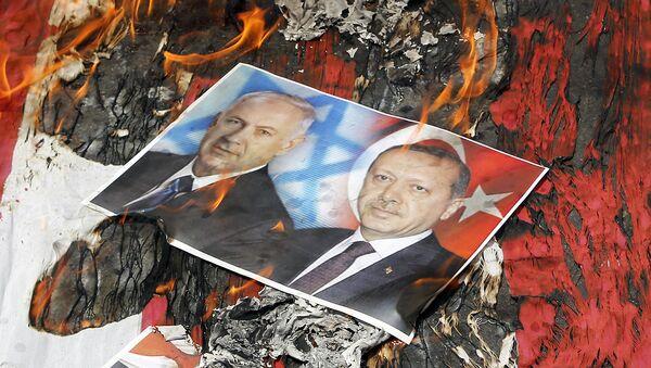 Сожжение портретов Нетаньяху и Эрдогана - Sputnik Արմենիա