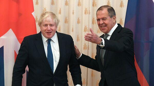 Встреча глав МИД РФ и Великобритании С. Лаврова и Б. Джонсона - Sputnik Արմենիա