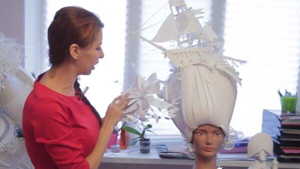 Художница из Санкт-Петербурга делает наряды, парики и украшения из бумаги - Sputnik Արմենիա