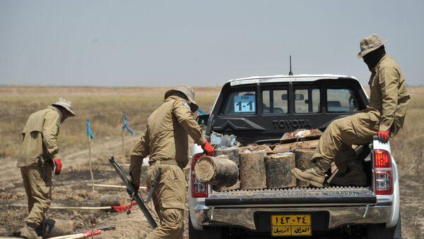 Работы по поиску и удалению мин ИГ в провинции Киркук в Ираке - Sputnik Արմենիա